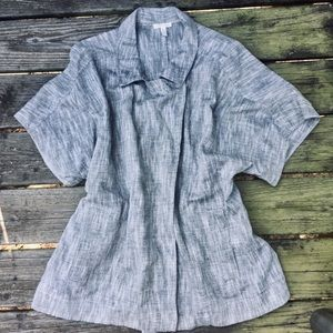 Eileen Fisher Short Sleeve Linen Blend Jacket